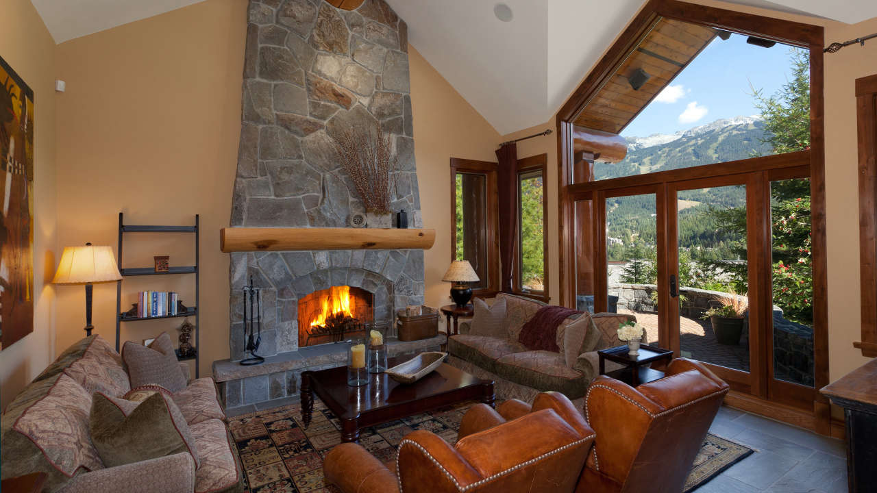alpine view chalet rental with panoramic mountain views